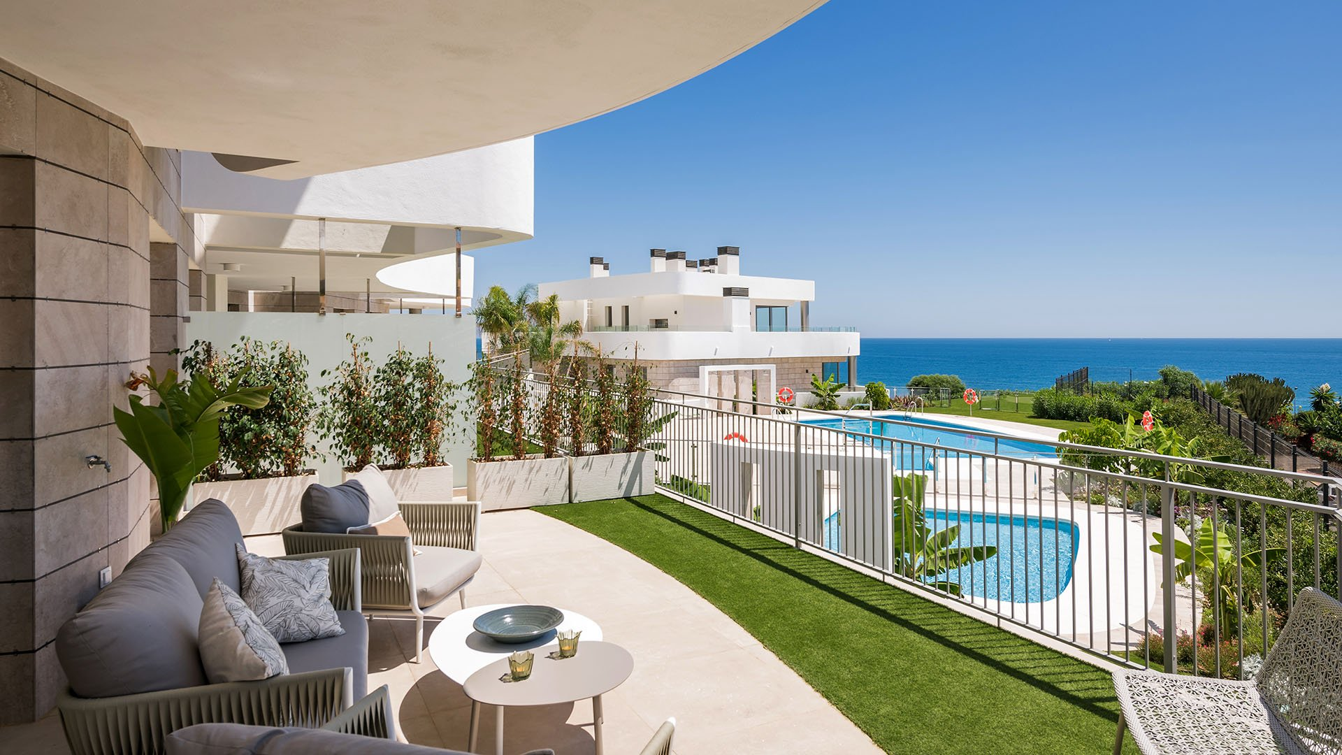 Aria: Penthouses with incredible sea view in Mijas Costa