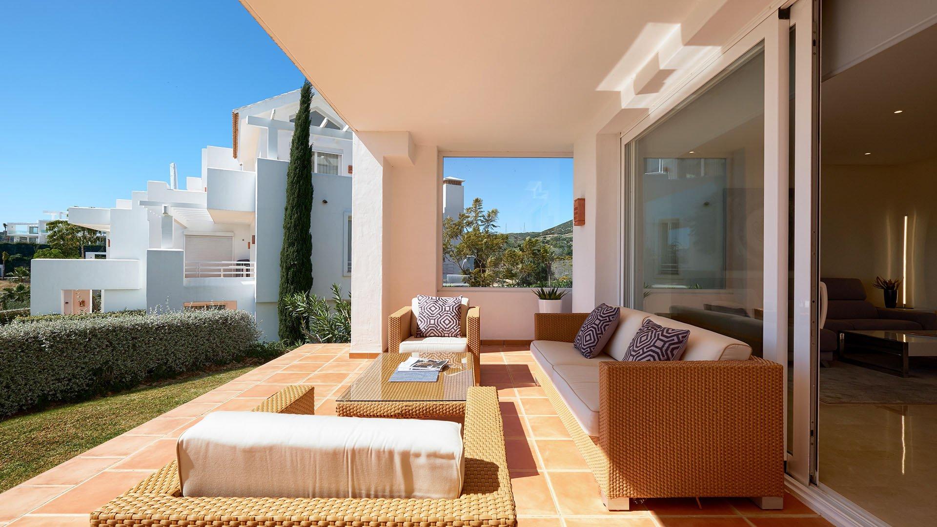 Alcazaba Lagoon: Mooi begane grond appartement in Alcazaba Lagoon