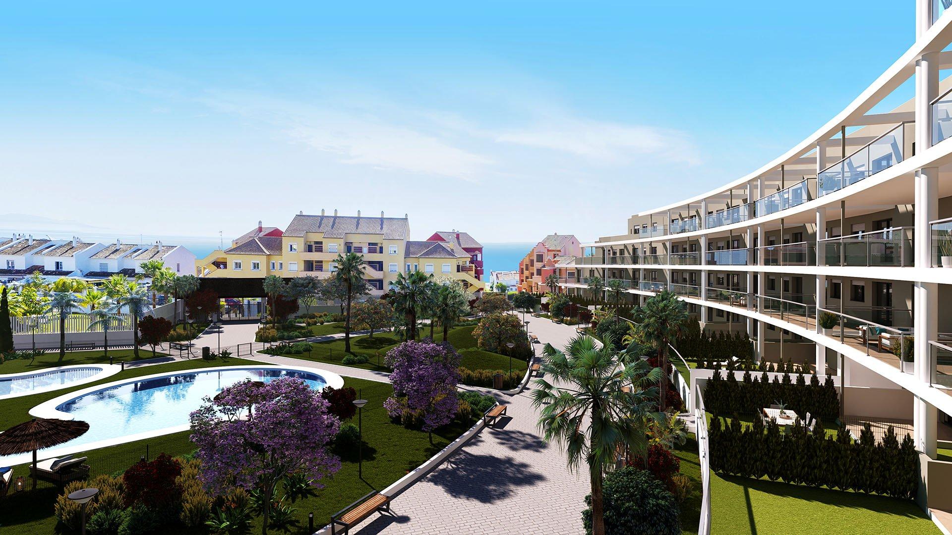 Amphora Beach: Appartementen vlakbij het strand in Manilva