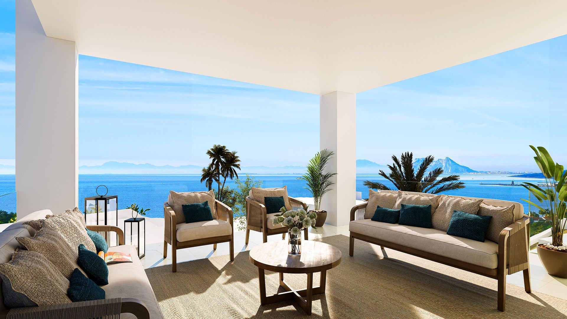Azata Bay: Modern villa in Sotogrande with panoramic sea views