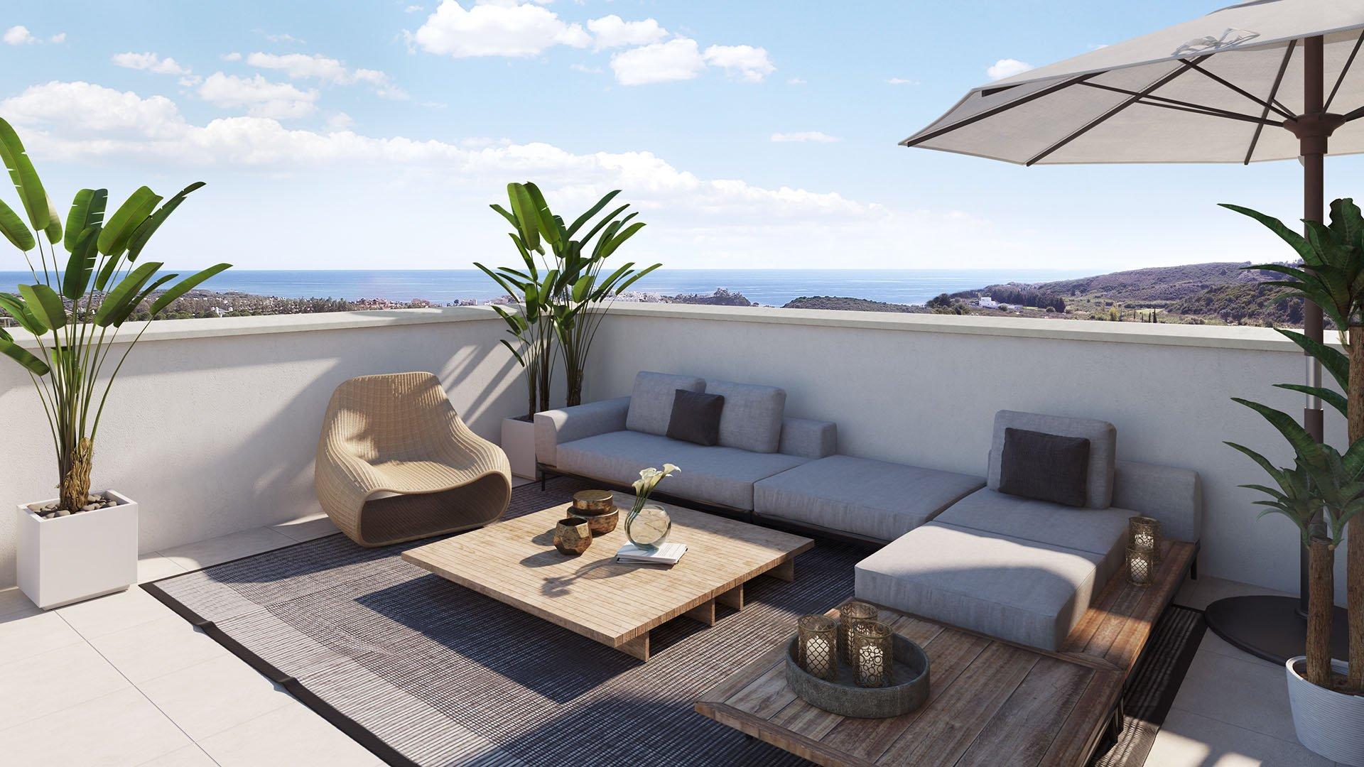 Casares Homes: Front line golf attractive apartments
