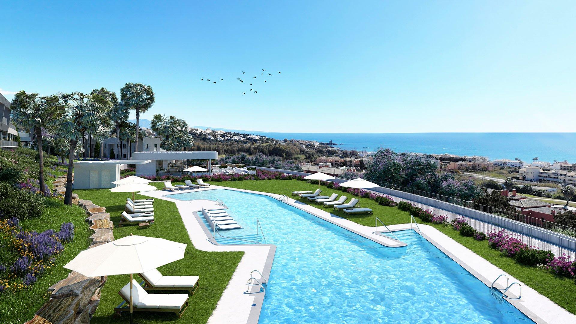 Célere Dona Julia: Appartementen op wandelafstand van het strand in Casares