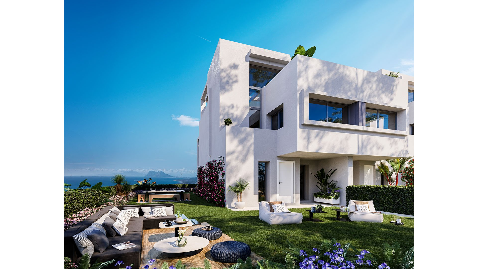 Golden View 2: Attractive townhouses with stunning views over the sea and Gibraltar