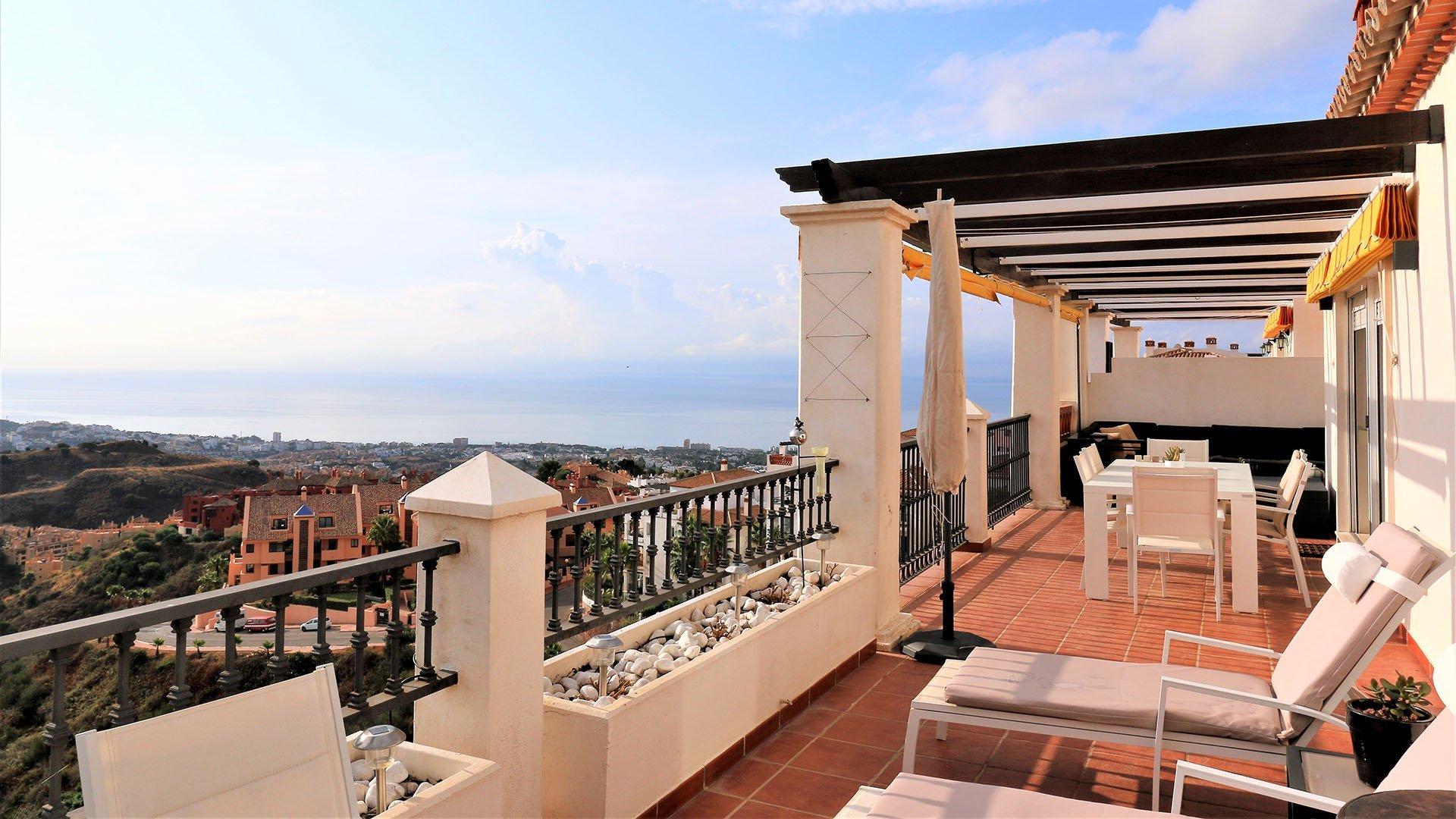Las Palmeras de Calahonda: Prachtige penthouse met indrukwekkend uitzicht