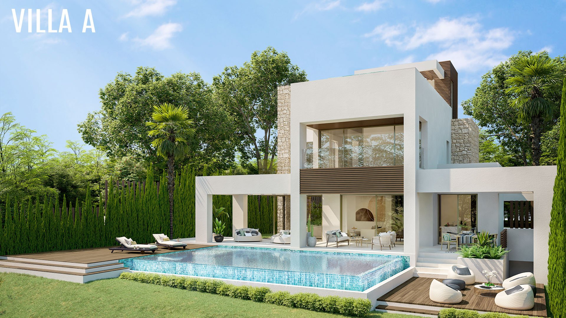 La Fuente: Villas in a unique location on the Golden Mile in Marbella
