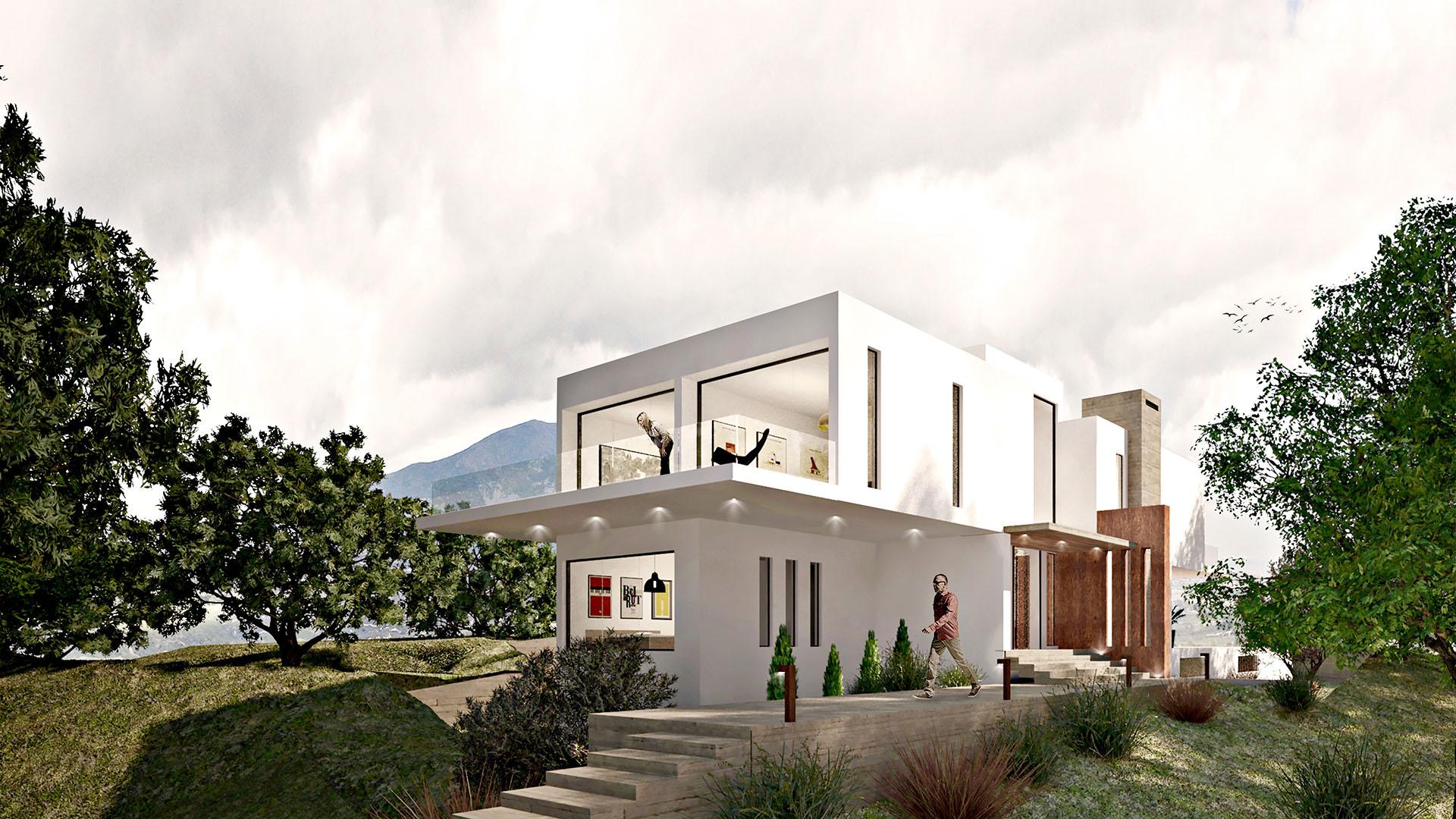 La Mairena villa 37: Modern villa in La Mairena on the east side of Marbella