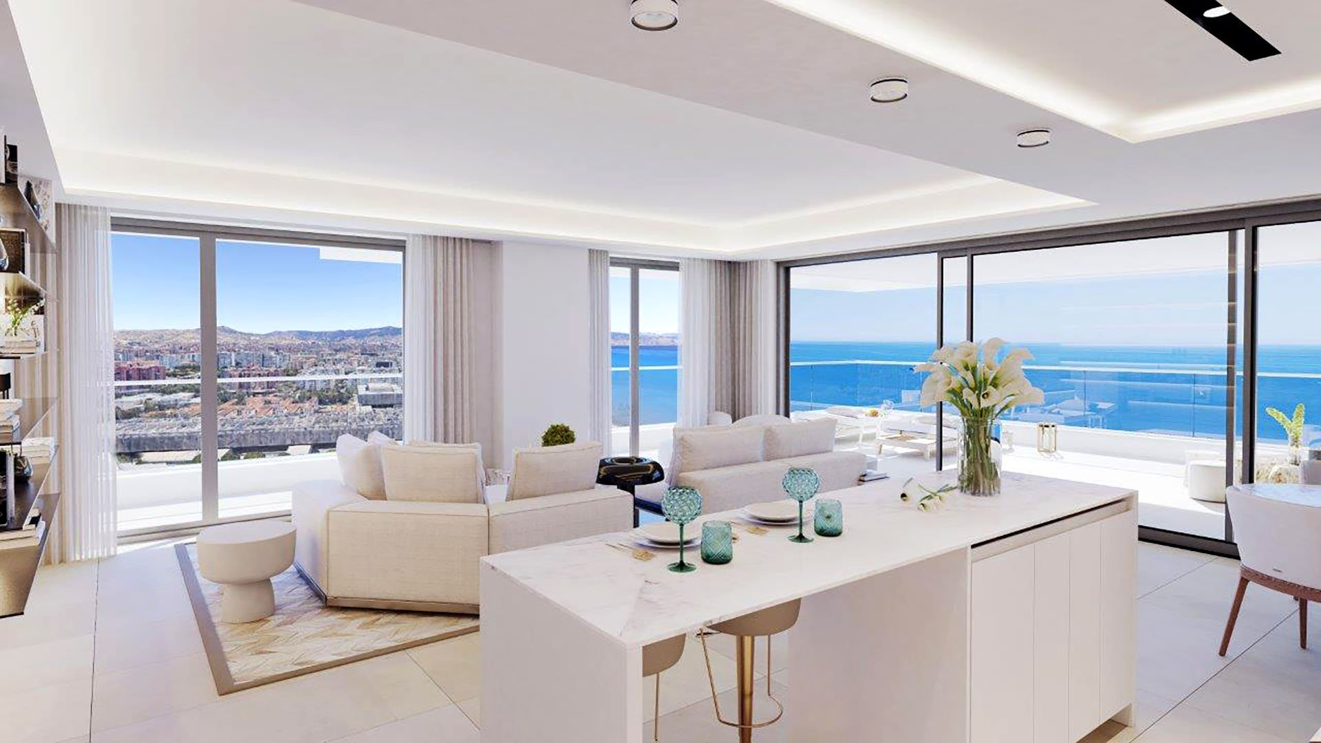 Málaga Towers: Exclusive front line beach apartments in Málaga