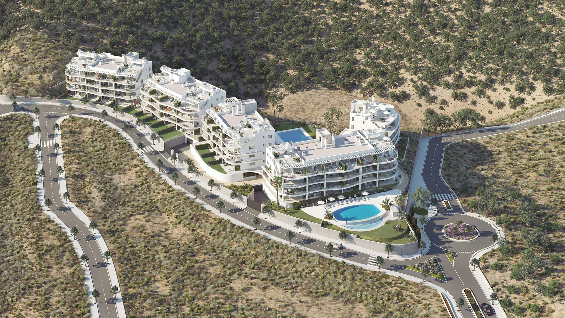 Panorama: Apartments with panoramic view close to the beach