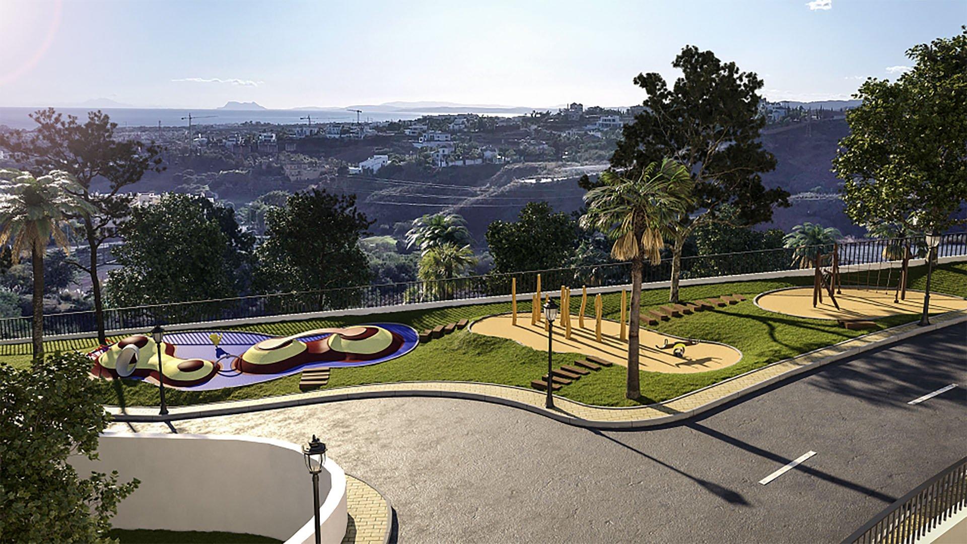 Paraíso Pueblo: Apartments in Andalusian luxury resort style in Benahavís