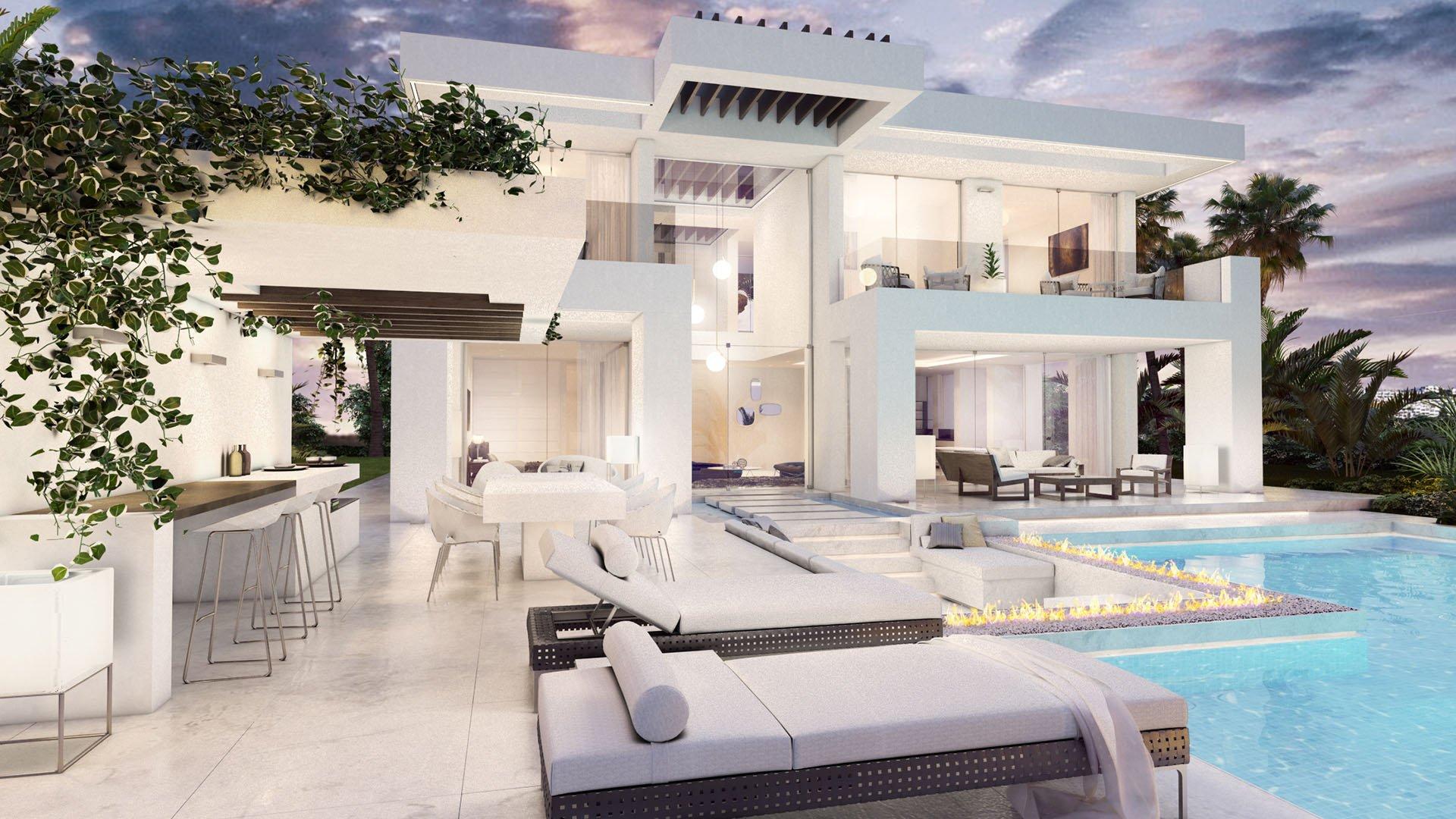 Riviera del Sol: Eigentijdse villa met indrukwekkend zeezicht