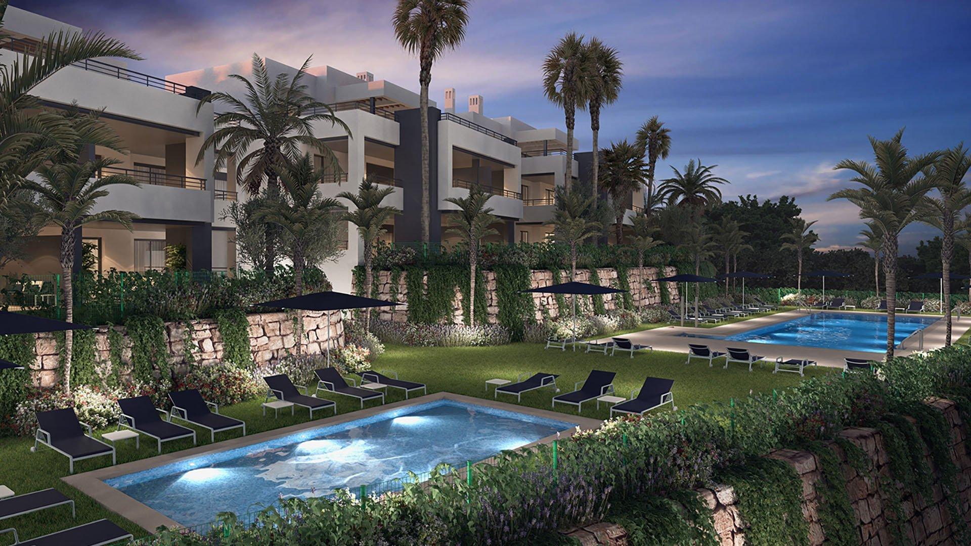 Royal Casares homes: Apartments in Casares surrounded by golf and stunning sea views