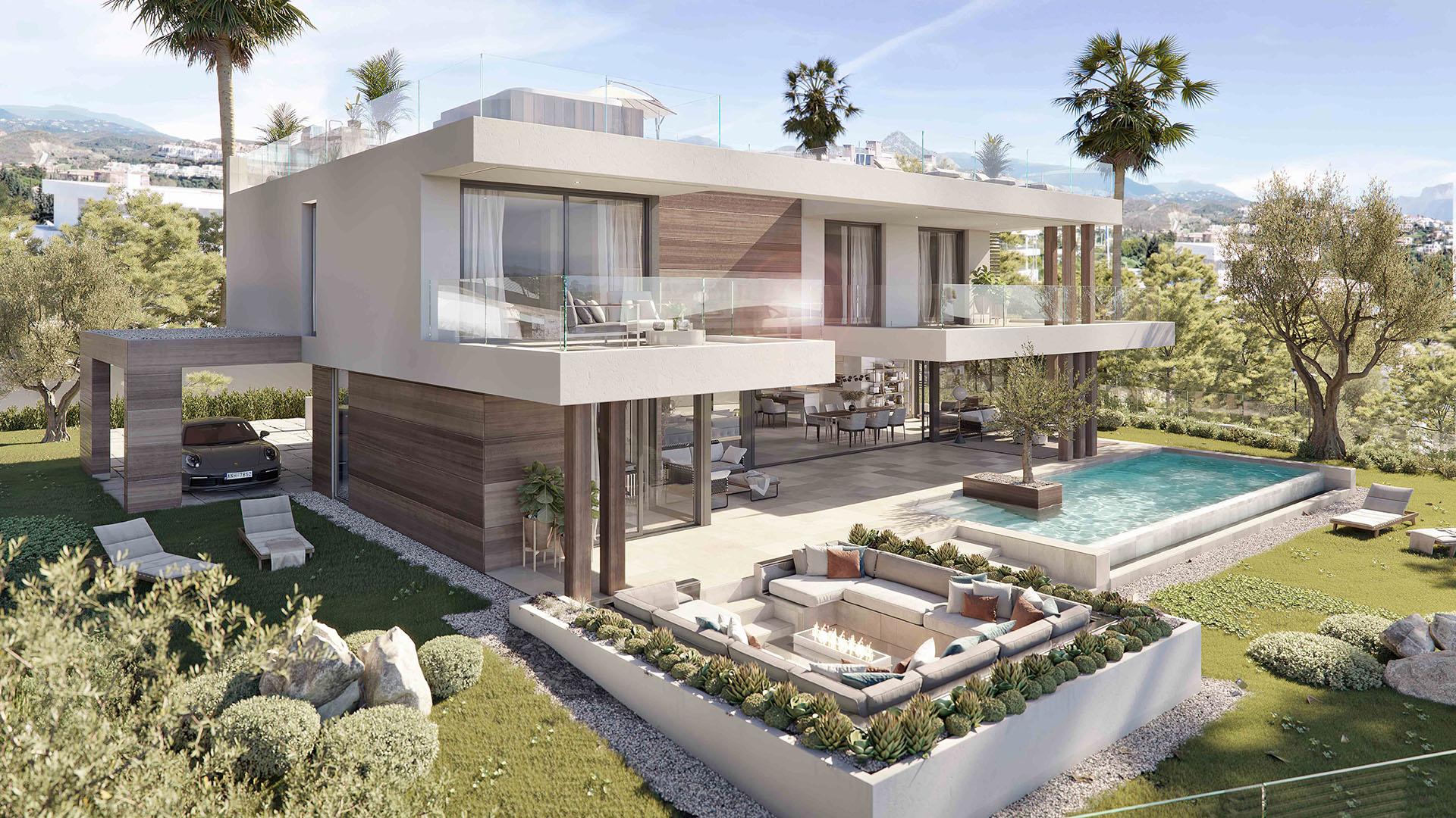 Silk: Moderne nieuwbouw villa in Estepona