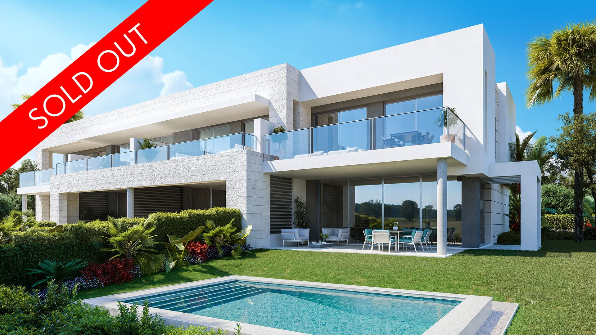 Tree Tops Marbella: Contemporary semi-detached townhouses with concierge service