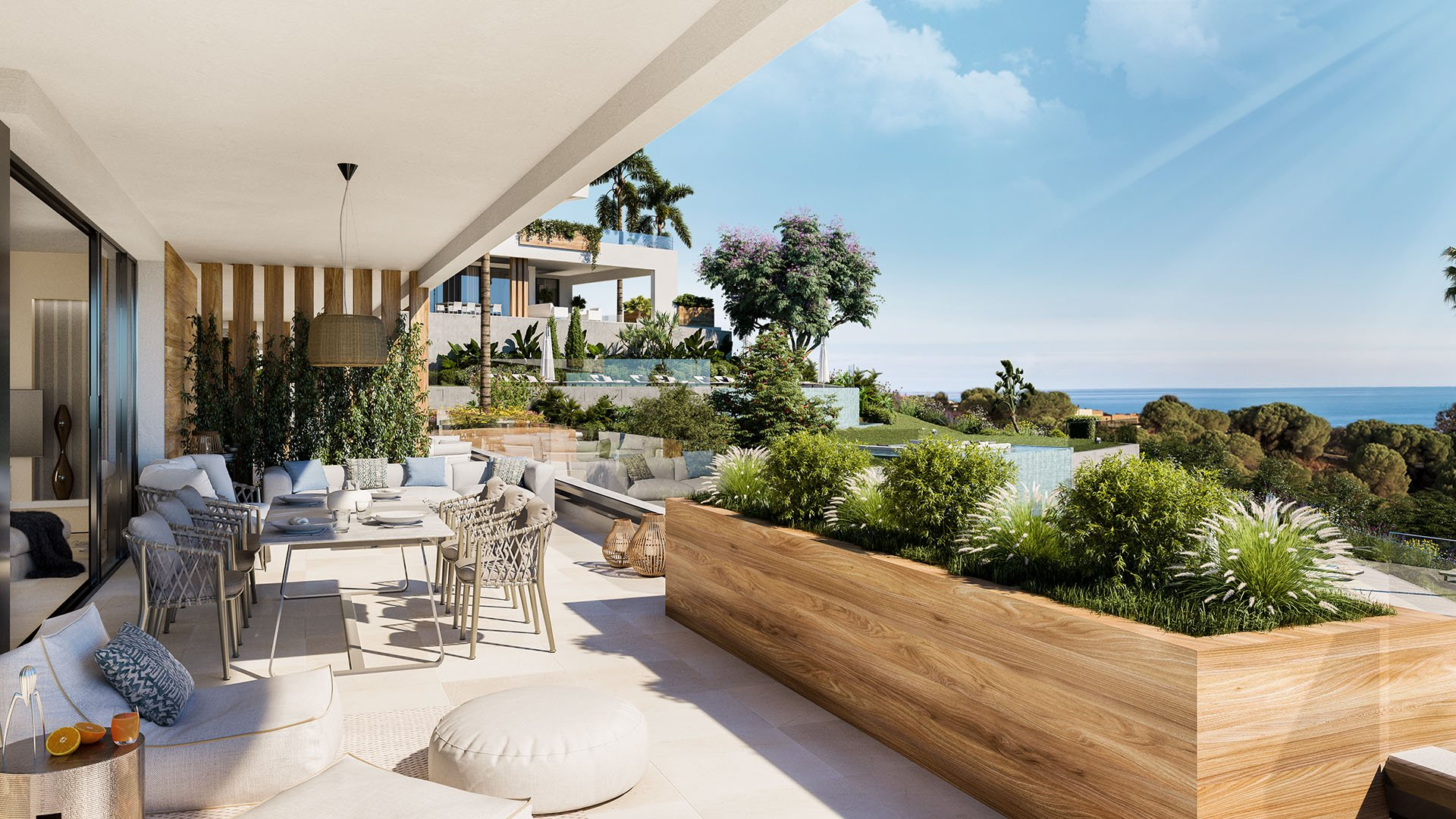 The Cape Sunset: Apartments integrated into the natural surroundings of Cabopino