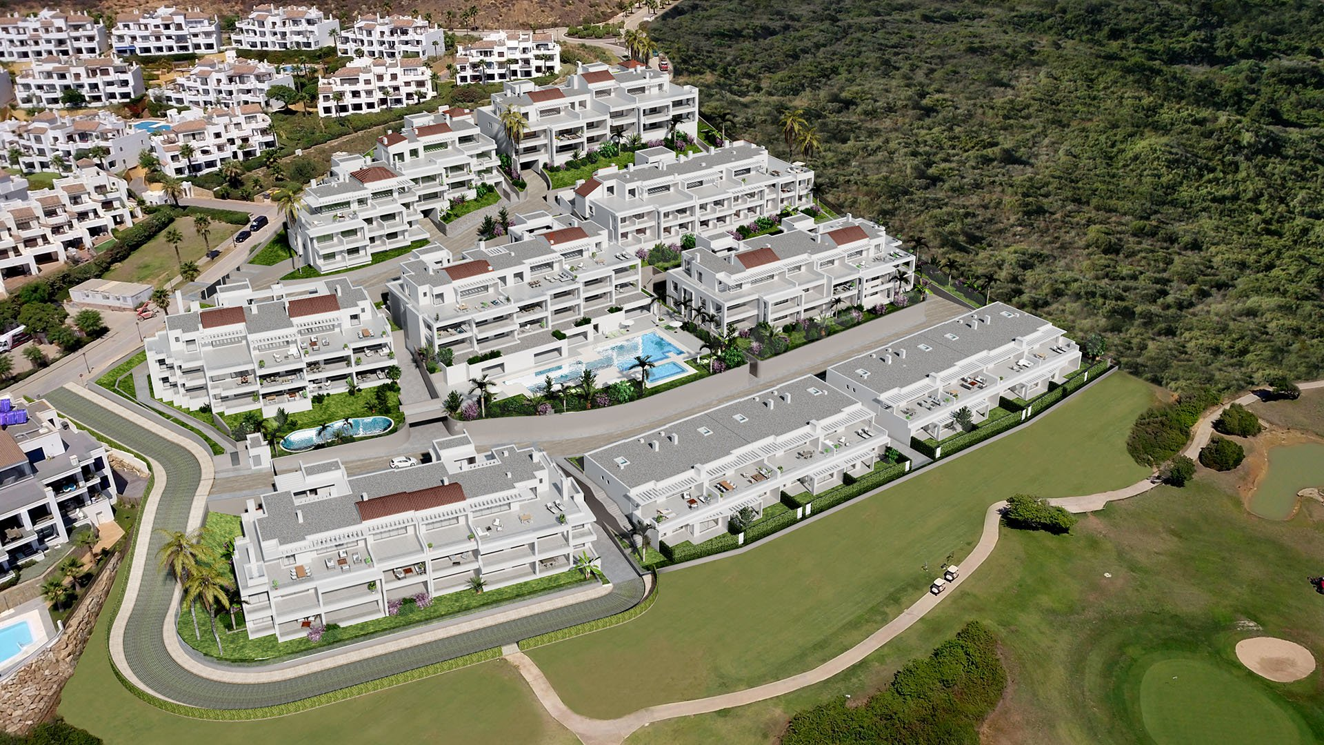The Links:  Moderne appartementen op 100 meter van het strand