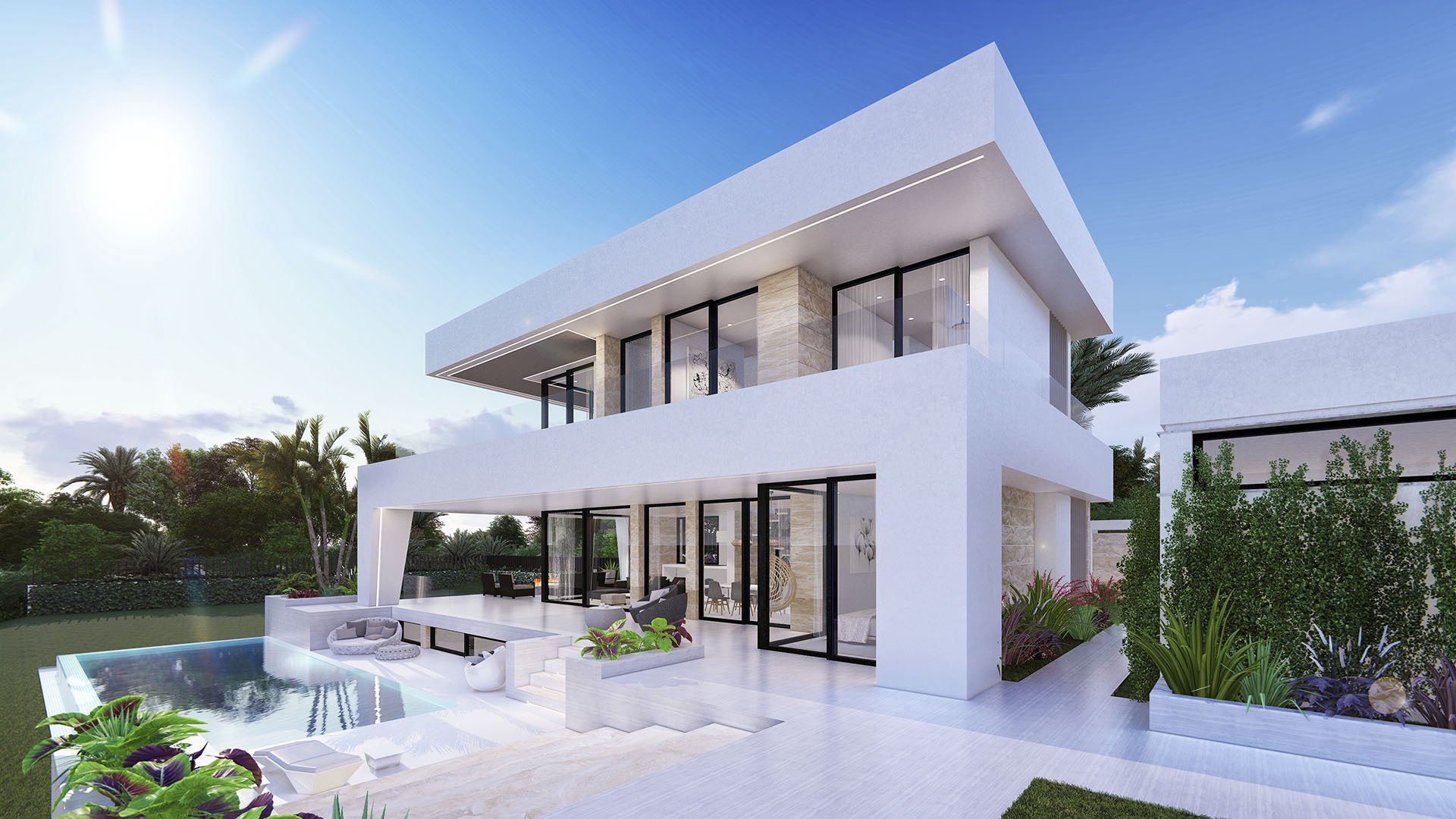 Villa Laura: Modern villa with sea views in La Cala de Mijas