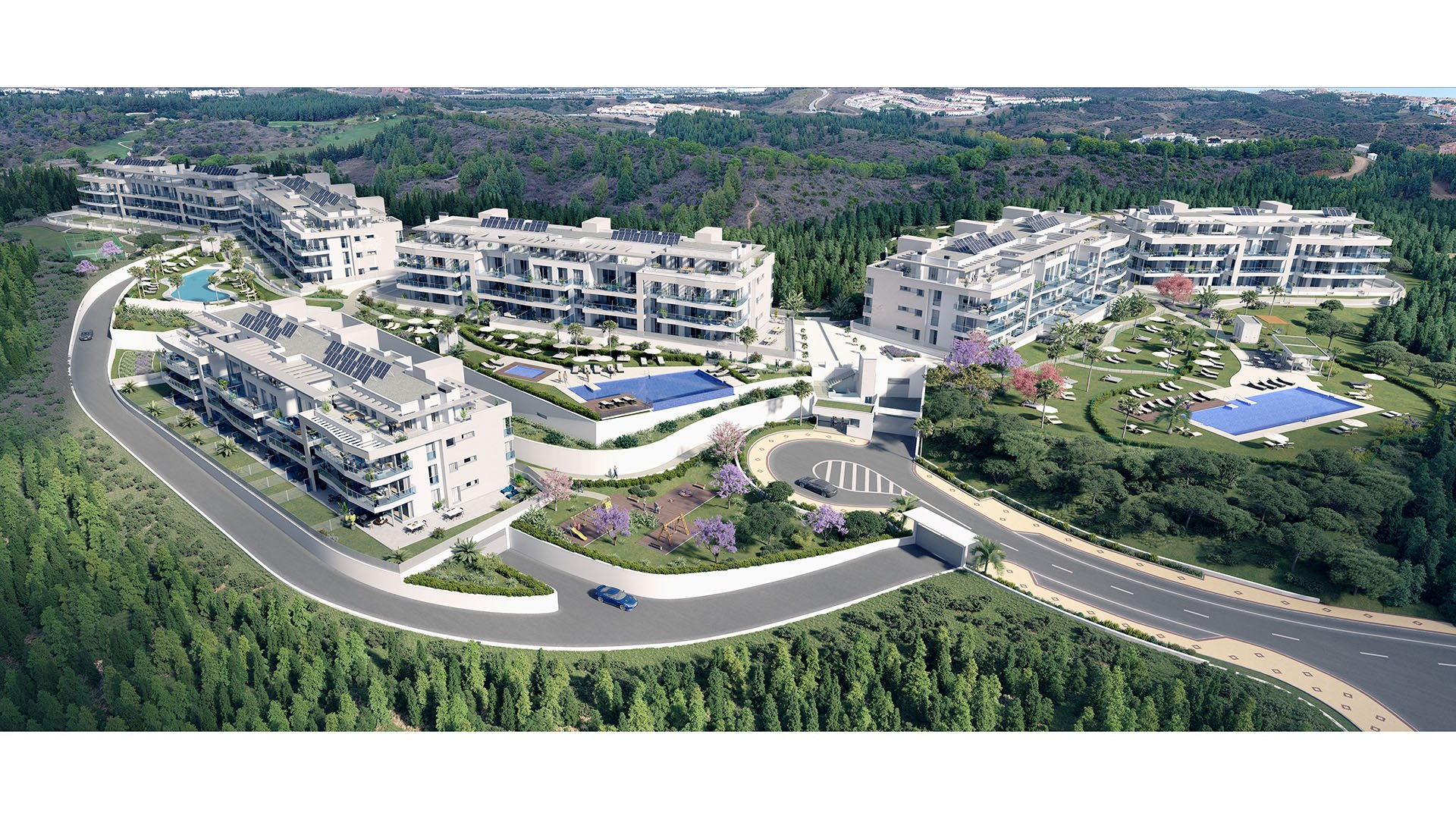 Vitta Nature: Penthouses in Mijas Costa surrounded by nature and stunning sea views