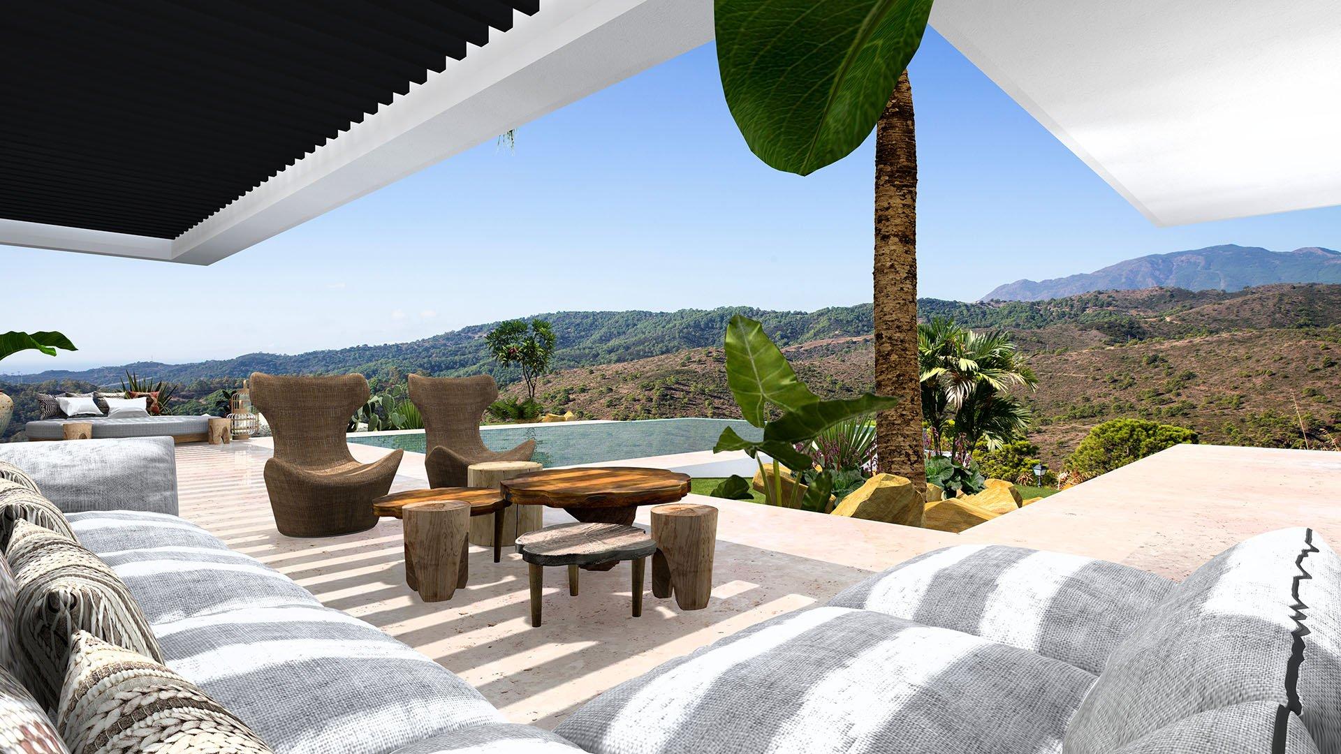 Villa Mandurah: Design villa in een groen paradijs met prachtig uitzicht op zee en bergen