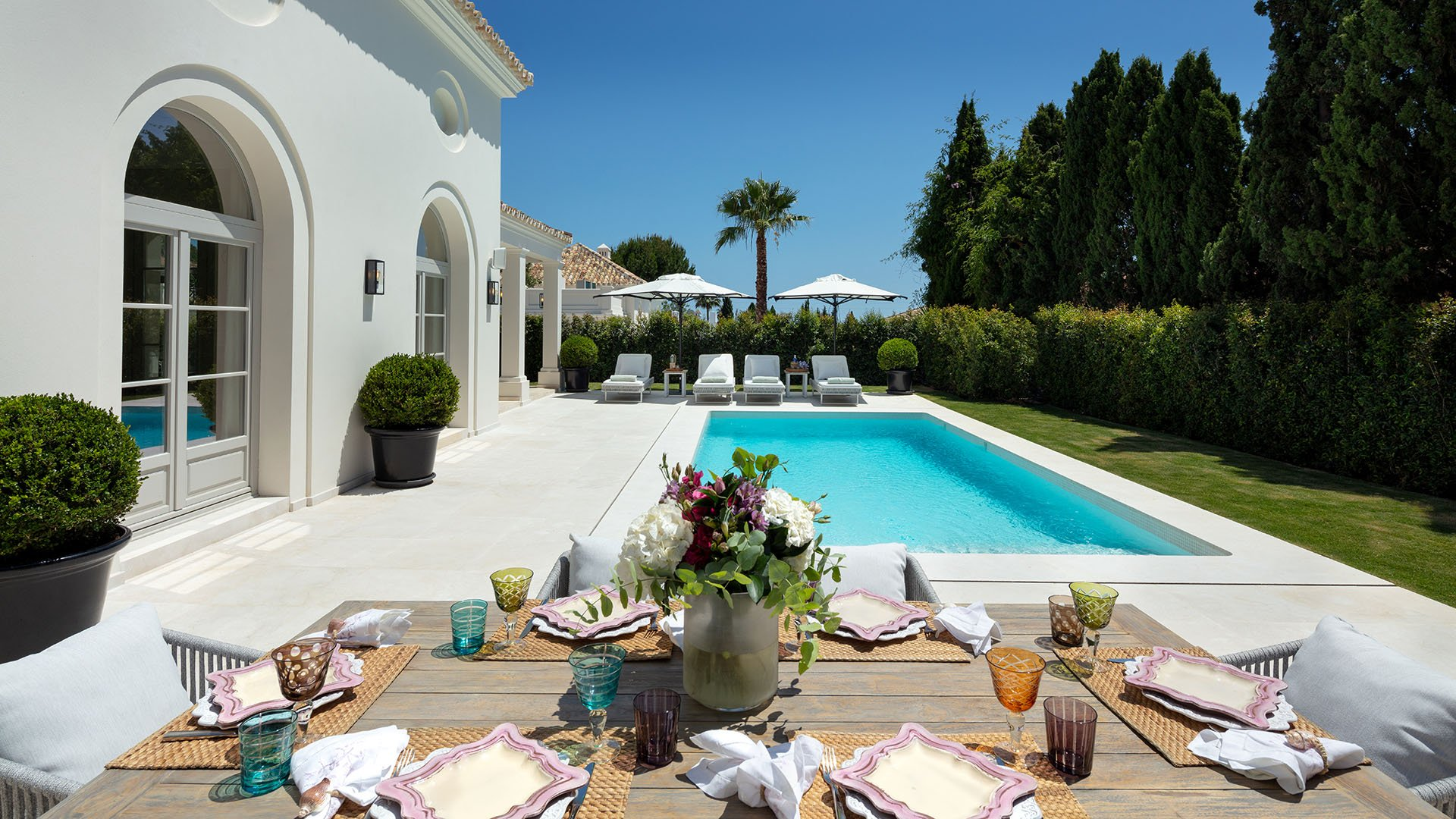 Villa Nagueles: French provincial style new build villa on the New Golden Mile in Marbella