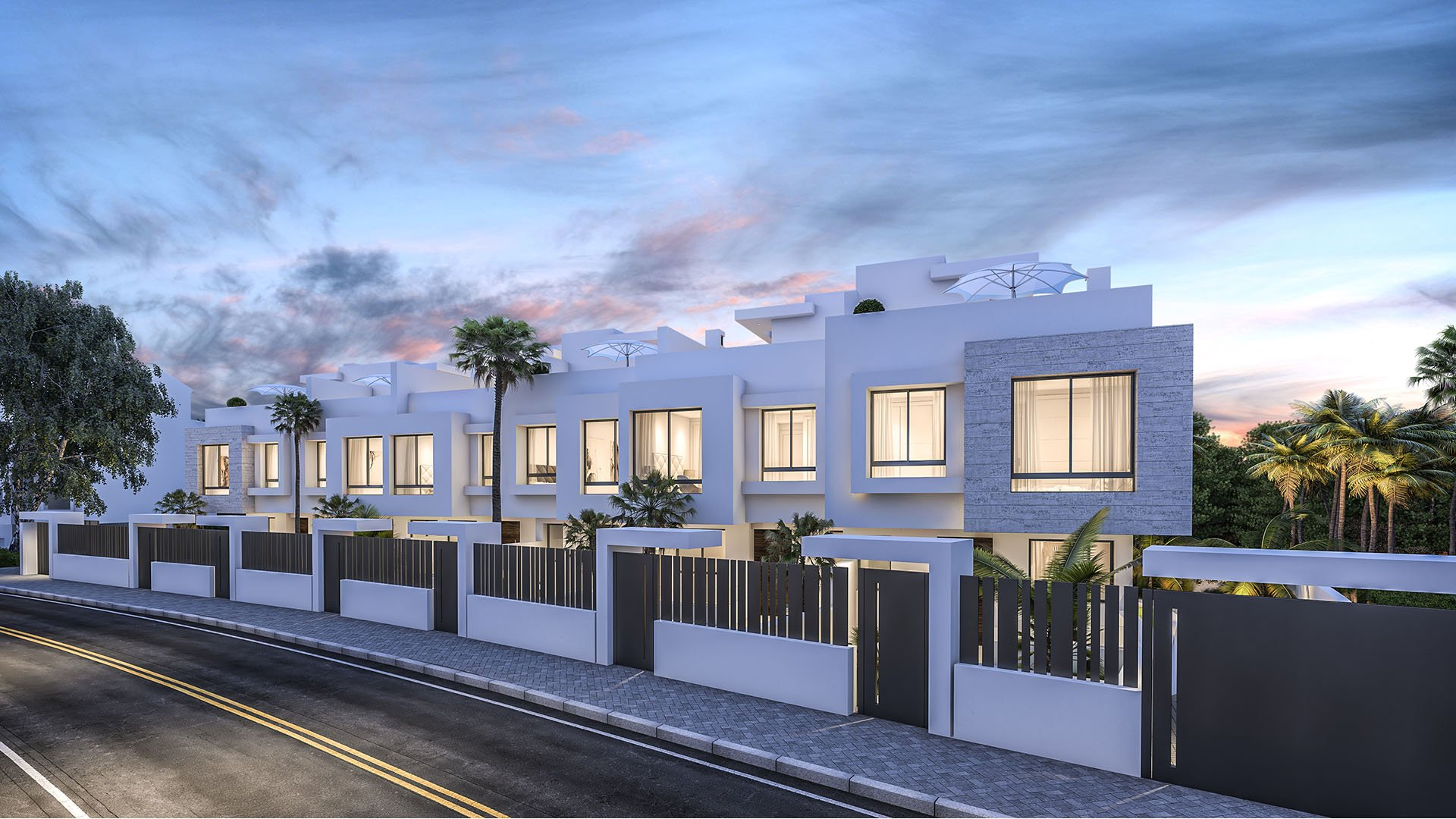 West Beach: Boutique development of 6 townhouses right next to the beach of Estepona