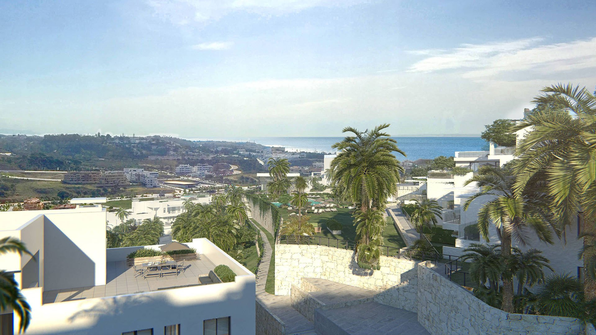 Casa Banderas: Gunstig gelegen penthouses met zeezicht te Mijas