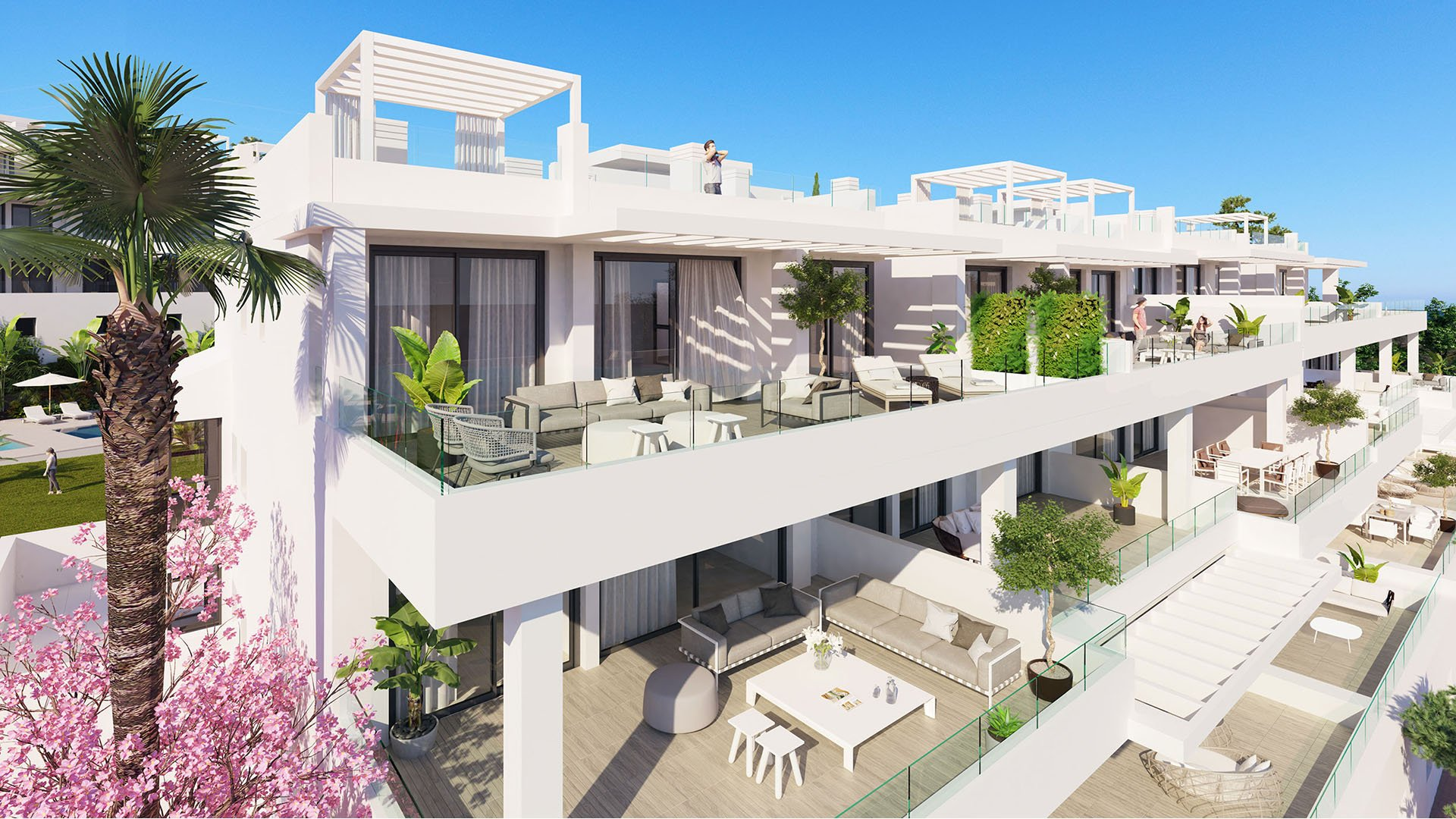 Las Olas: Modern apartments within walking distance in Estepona